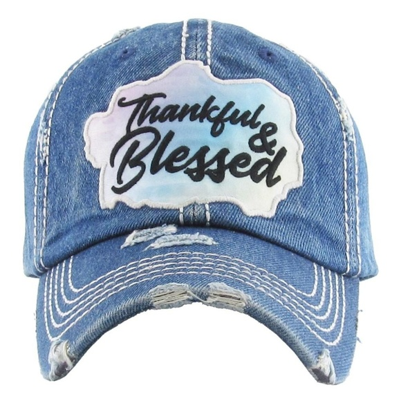 NWT   BOUTIQUE   THANKFUL   BLESSED HAT 4a51445958bf